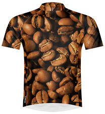 Primal Wear Coffee Cycling Jersey Mens short sleeve bicycle bike + DeFeet sox
