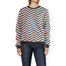 Coral Navy Chevron Sweatshirt Sweater XS-3XL