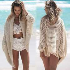Womens Swimwear Beachwear Bikini BeachCover Up Cardigan Knitting Top Sweater