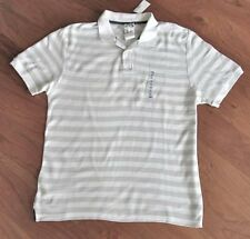 OLD NAVY ~ NWT Men's Size XL or XXL ~ White & Gray Striped Polo Henley Shirt