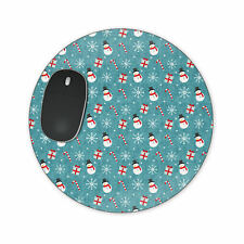 Snowmen and Candy Canes Mousepad Placemat Potholder - Round, Heart or Rectangle