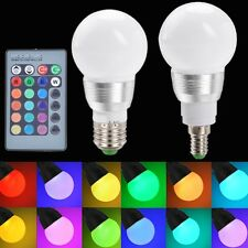 85-265V E27/E14 10W RGB LED Light Color Changing Lamp Bulb With Remote Control