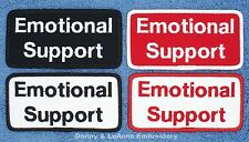 EMOTIONAL SUPPORT DOG PATCH 2X4 INCH Danny & LuAnns Embroidery assistance