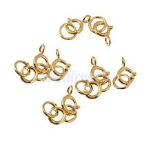 10pcs Sterling Silver Spring Ring Clasp Open Jewelry Making Findings Gold