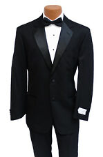 Brand New Classis Wool Mens Black Traditional Tuxedo 5 Piece Set Groom Wedding