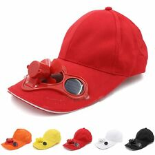 Solar Power Hat Cap Cooling Cool Fan for Outdoors Golf Baseball Camping Hiking
