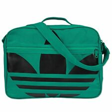 ADIDAS ORIGINALS AIRLINER BIG TREFOIL BAG-MESSENGER BAG GREEN SHOULDER BAG
