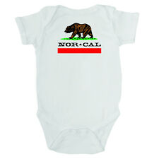 Nor Cal Republic One Piece Infant Onesie White