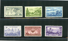 L981  U.S COMMEMORATIVE YEAR SET 1951   6 STAMPS 998 - 1003  MINT NEVER HINGED