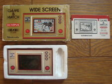 NINTENDO GAME AND & WATCH OCTOPUS w/ BOX & MANUAL 1981 JAPAN Boxed
