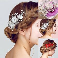 Fashion Womens Girls Crystal Rhinestone Flower Barrette Hair Clip Clamp Hairpin