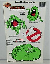 Real Ghostbusters SLIMER & NO GHOST Sticker Set Vintage Green Ghost MINT