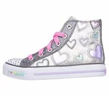 Girl's Youth SKECHERS TWINKLE TOES 10583 LIGHTS Sparkle/Multi Casual Shoes New
