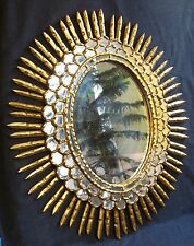 ANTIQUE BEAUTIFUL HAND CARVED GILT WOOD MIRROR  19th