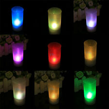 New Colorful LED Electronic Candle Light Sound Sensor Control Party Bar Ornament