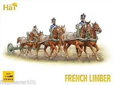 HAT 8105 NAPOLEONIC FRENCH 6 HORSE LIMBER TEAM.  1/72 SCALE UNPAINTED PLASTIC