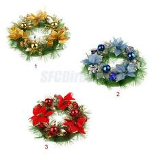 30cm Wedding Christmas Floral Snow Balls Door Wall WREATH Decor Xmas Ornament