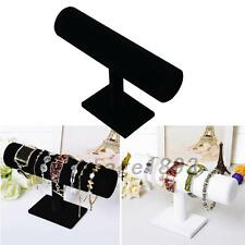 1PCS Velvet Bangle Bracelet Jewelry Watch T-Bar Display Stand Holder Rack