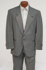 Gray Christian Dior Tuxedo Jacket & Pants Set Prom Grey Tux Wedding Outfit