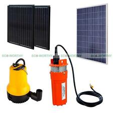 12V/24V Solar Water Pump Kit with Solar Panel & Folding Solar Panel for Watering