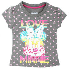Disney Minnie Mouse Toddler Girls Short Sleeve Tee T-Shirt 4YM7986F 2T 3T 4T