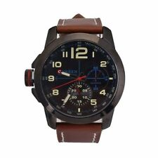 Men Fashion Geneva Faux Leather Retro Dial Analog Quartz Luxury Wrist Watch #MA