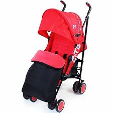 Zeta CiTi Stroller - Warm Red Complete With Footmuff & Raincover