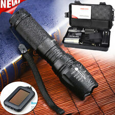 X800 Zoom XML T6 LED Tactical 5000lm Flashlight +18650 Battery Kit+Solar Key Lot