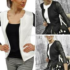 Women Style Slim Casual Business Blazer Suit Jacket Coat Outwear Zipper S-XL