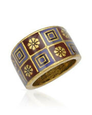 NEW PILGRIM SKANDERBORG, DENMARK Three-Tone Enamel Ring in Yellow Base