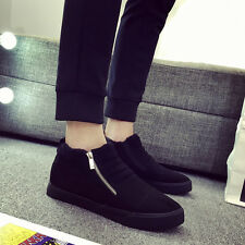 Fashion Mens Warmer Canvas Leather Sneakers Shoes Casual Athletic High Top Shoes