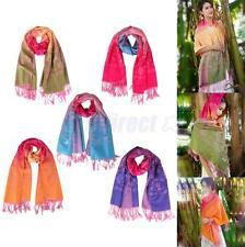 Women Floral Cashmere Pashmina Scarves Long Cowl Stole Shawl Wrap Tassels Scarf