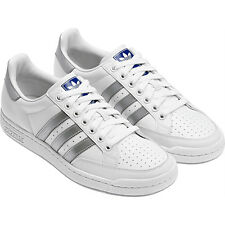 Adidas Tennis Pro Trainers Shoes Trainers Leather white-grey Size 47