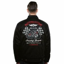 Lucky 13 Racing death  Men's Lined Jacket Chino Style Born to lose Motorcycle