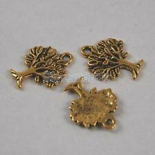 Wholesale Lots Antique Silver /Antique Gold/Bronze Tree of Life Charm Pendants