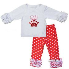 Daddy Is My Valentine I'm His Princess White Icing Shirt & Pants Valentine's Day