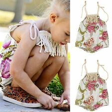 Infant Baby Girl Bodysuit Floral Romper Jumpsuit Outfits Sunsuit Newborn Clothes