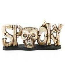 Resin Skull Head Tealight Candle Holder Tabletop Halloween Party Decor 2 Colors