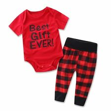 2017 Newborn Infant Baby Boy Girl Romper Bodysuits Tops+ Pants Outfit Clothes