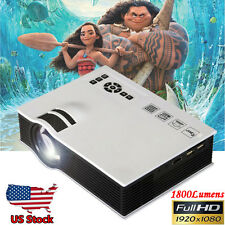 1800lumens LED Home Theater Cinema Multimedia Projector 1080P HD HDMI USB Video