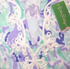 New Lilly Pulitzer MARINA DRESS S M L Lilly's Lilac Nice Ink Cotton Jersey NWT