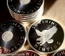 2 Sunshine Mint Eagle- Sun Round BU -999 1 Oz. w/ Security Feature Built In #654