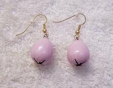 CLASSIC EASTER EARRINGS PIERCED VIOLET EGGS PETER COTTONTAIL RABBIT BUNNY VL-B3
