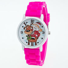 Fashion Boys Girls Women Men Christmas Silicone Jelly Gift Quartz Wrist Watch