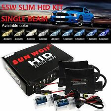 55W HID Xenon Headlight Conversion KIT Single Beam H1 H3 H7 H8 H9 H11 9006 880
