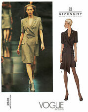 Vogue 2628 Alexander McQueen Givenchy Fitted Dbl-breasted Dress Sewing Pattern