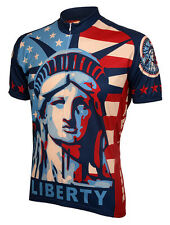 Statue of Liberty Cycling Jersey by World Jerseys Men's Short Sleeve with Socks