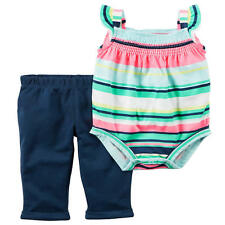 Carter's 2 Piece Striped Bodysuit with Navy Pant Set