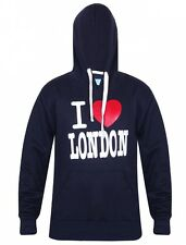 Mens I Love London Fleece Hoodie Sweatshirt Casual Workwear Hooded Top Medium