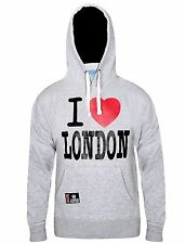 Mens I Love London Hoodie Sweatshirt Casual Workwear Fleece Hooded Top X-Large